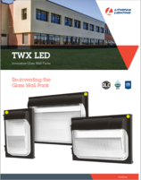 New Products Lithonia Lighting TWXLED Glass Wal Pack
