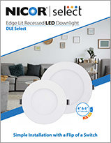 NICOR Edge Lit Recessed LED Downlight