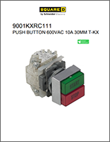 Square D Push Button 600VAC 10A 30MM T-KX