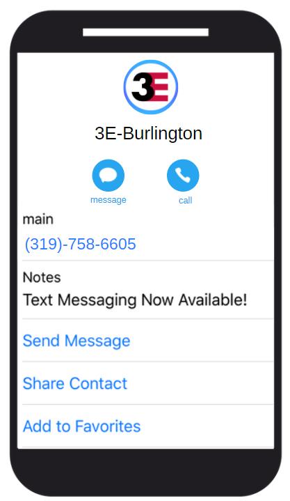 3E Texting Burlington