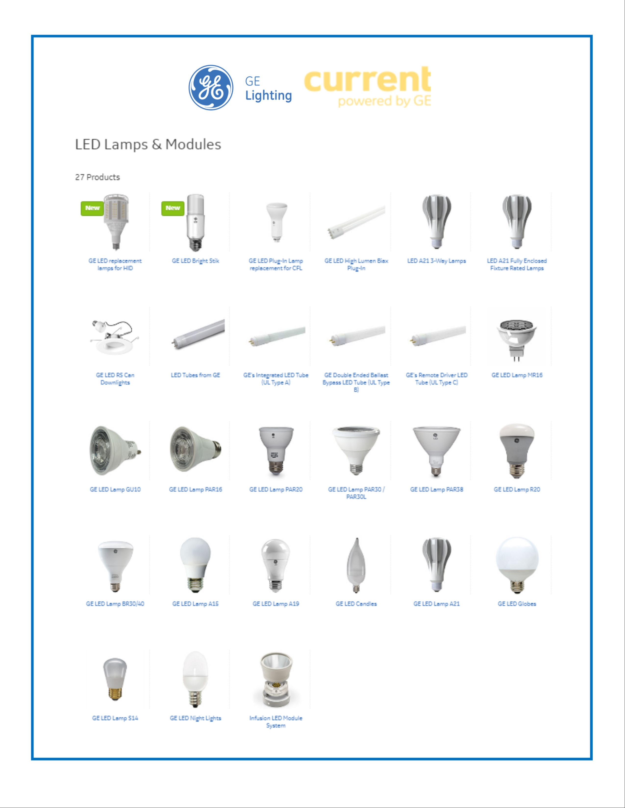 GE New Products